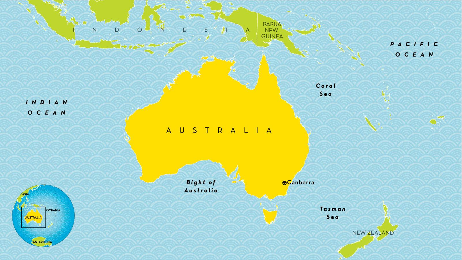 Australia Country Map.Australia Country Map Country Map Of Australia Australia