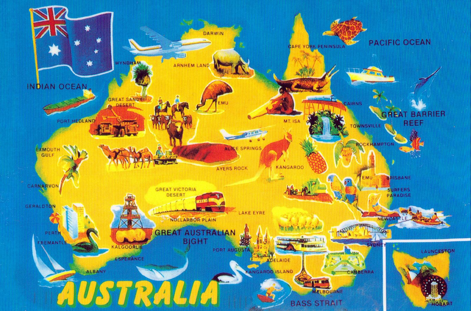 map of australia tourist attractions