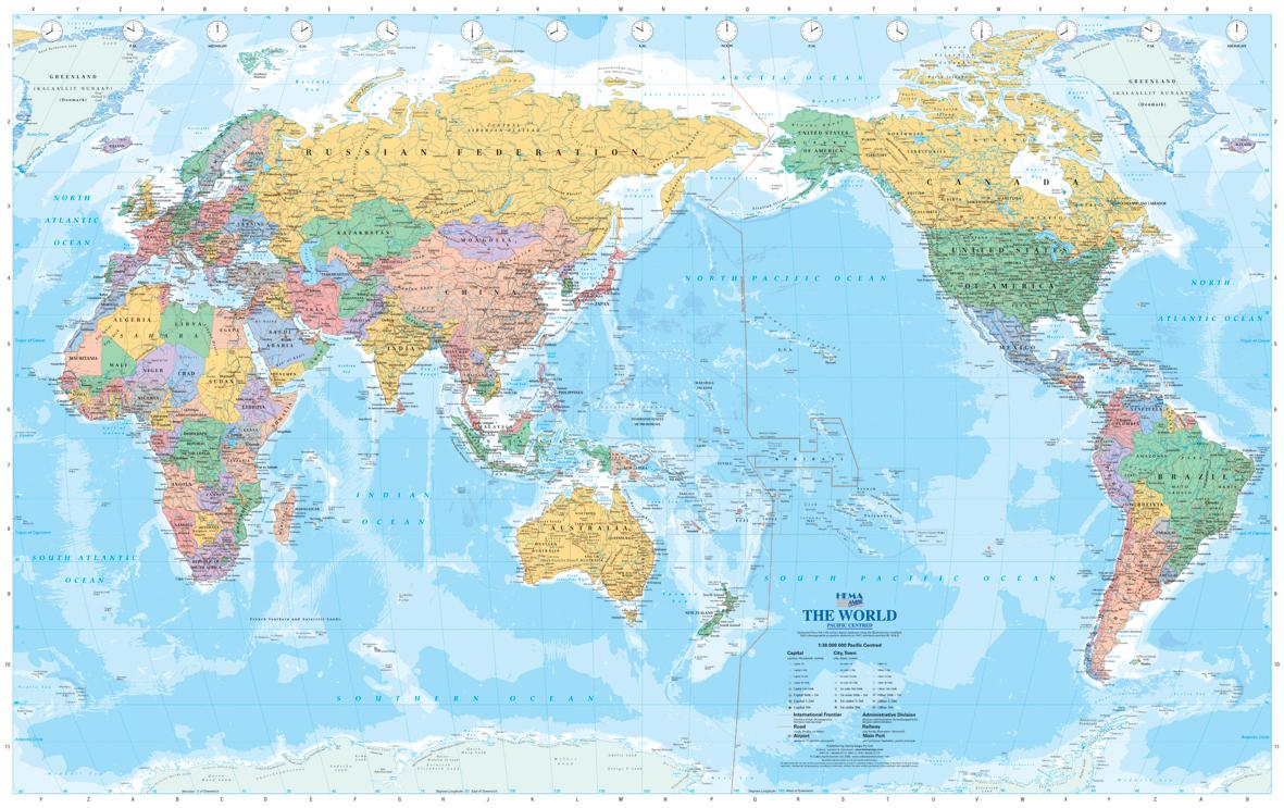 Australian World Map Australia On World Map Australia And New