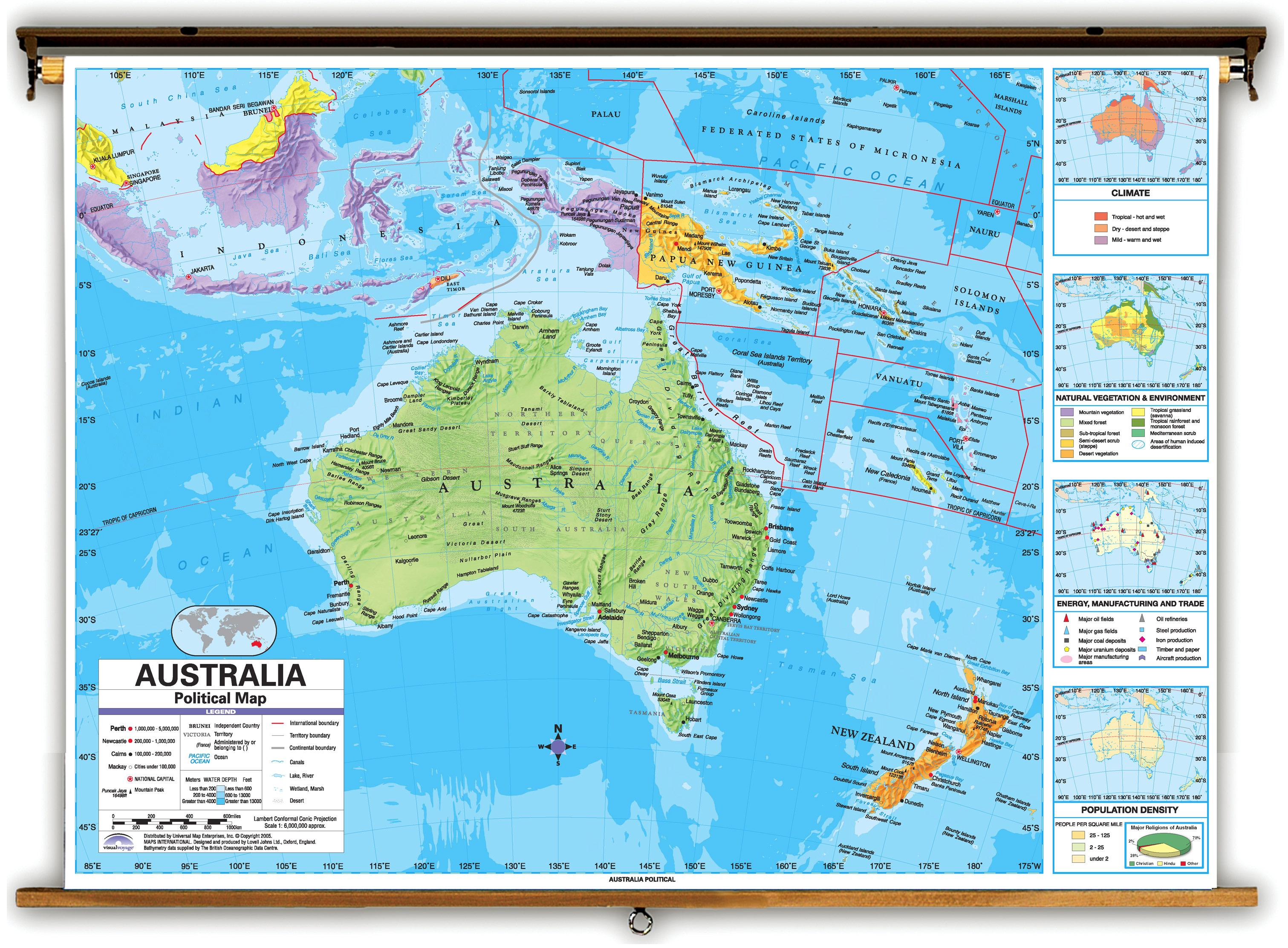 Map of Australia and surrounding countries - Australia and ...