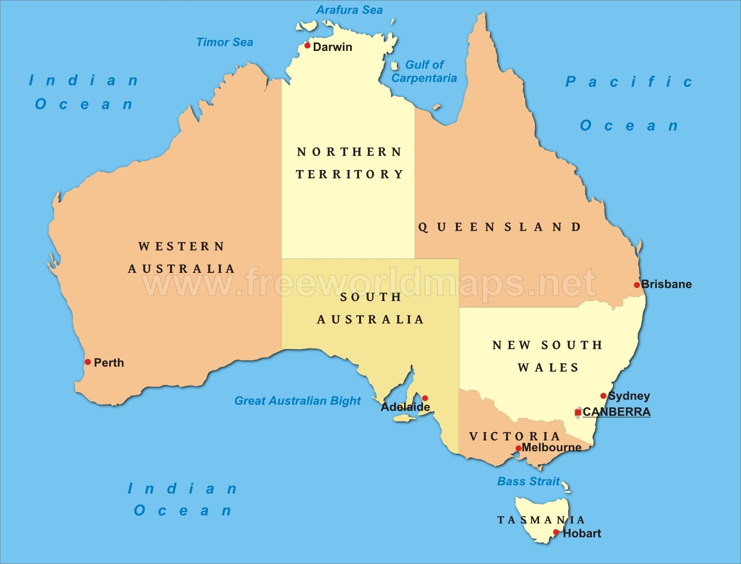 Political Map Of New Zealand.Political Map Of Australia Australia Map Political Australia And