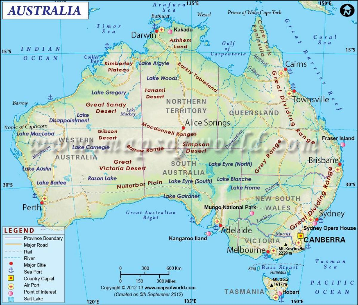 Map Of Australia And New Zealand With Capitals.Australia Capital Map Map Of Australia With Capitals Australia