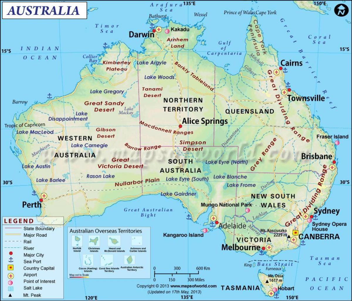Australia map australia on the map australia and new zealand australia on the map sciox Images