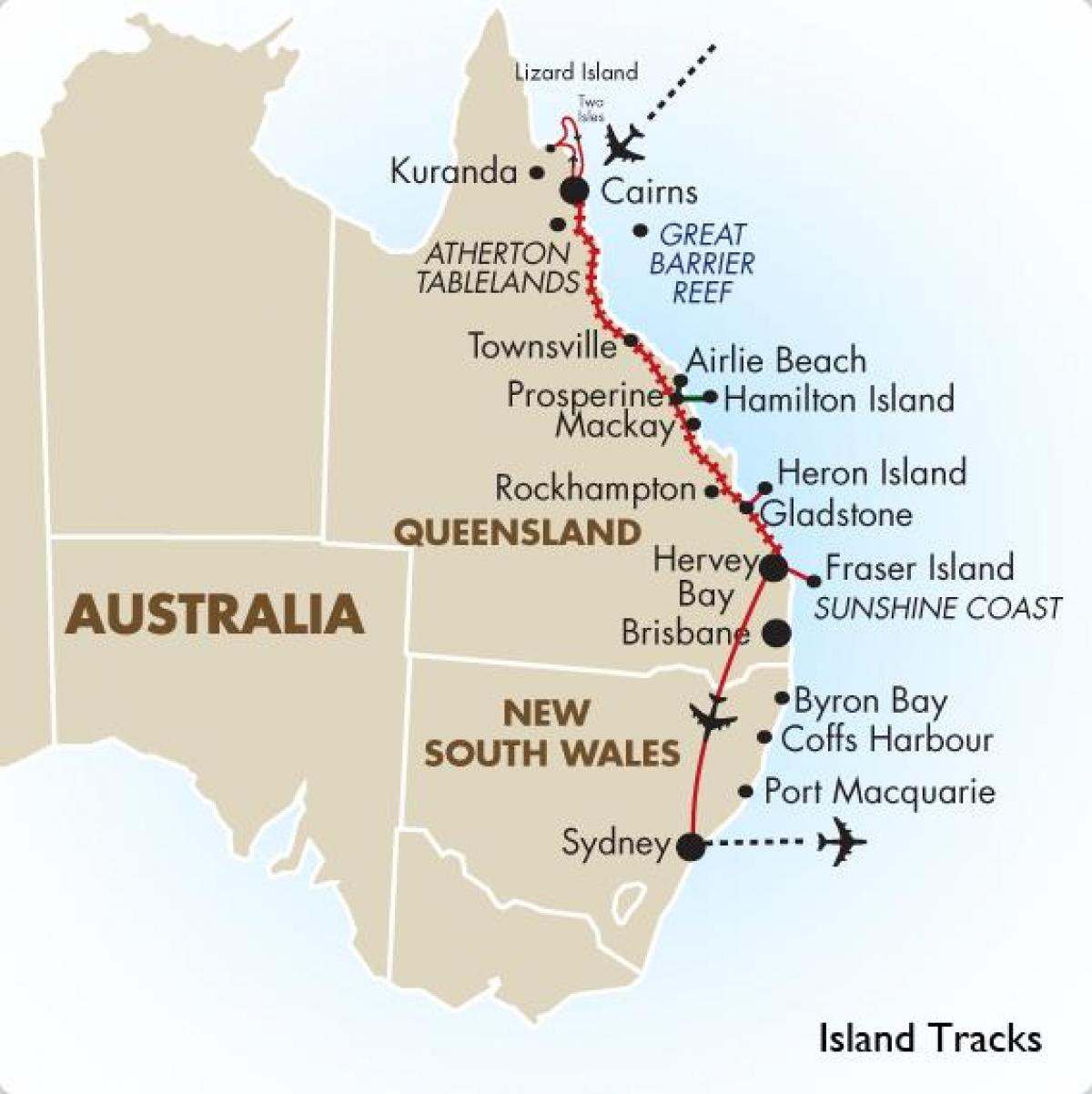 Map East Coast Of Australia.Australian East Coast Map Map Of East Coast Of Australia