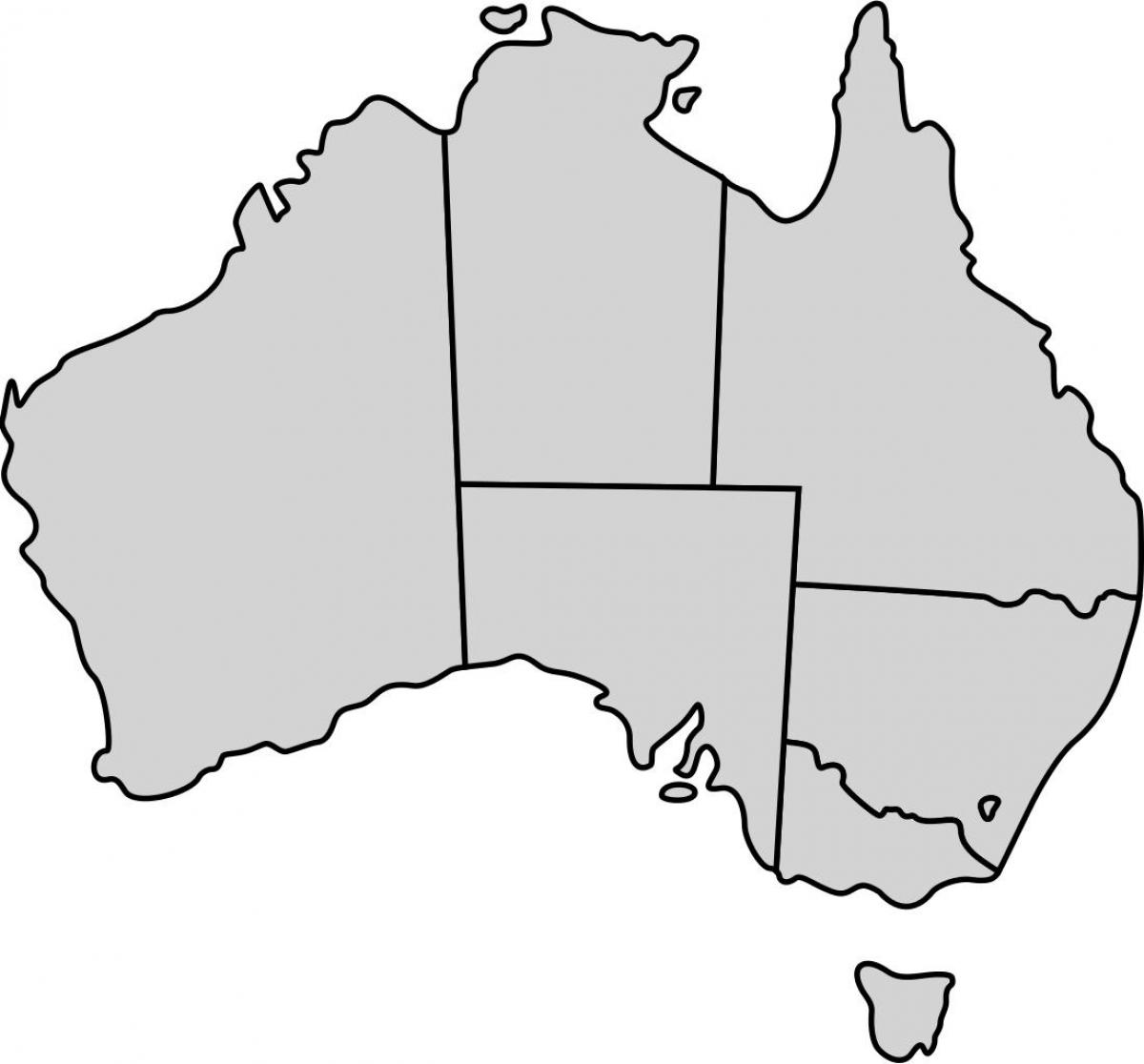 Map Of Australia Blank.Blank Australia Map Simple Map Of Australia Australia And New