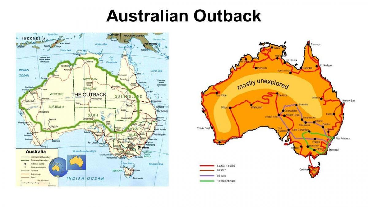 Australian outback map