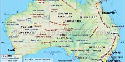 australia on the map