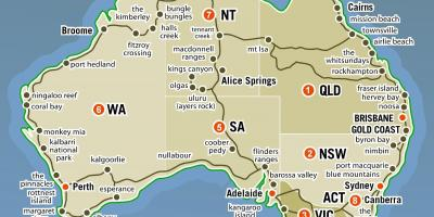 australia states map map of australia with states australia and new zealand oceania