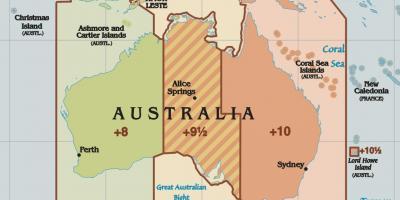 Australia time zone map Time zones Australia map Australia and