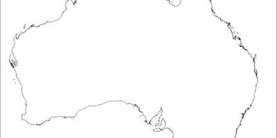 australia blank map
