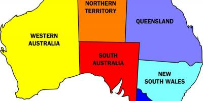 States in Australia map